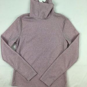 NWT Sparkly light pink high neck Sweater